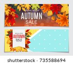 abstract  illustration autumn... | Shutterstock . vector #735588694