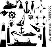sailing equipments   vector | Shutterstock .eps vector #73559020