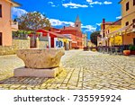 colorful architecture of...   Shutterstock . vector #735595924
