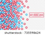 vector 3d social network like... | Shutterstock .eps vector #735598624