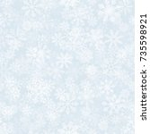 frost effect vector seamless... | Shutterstock .eps vector #735598921