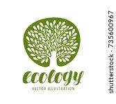 ecology  environmental... | Shutterstock .eps vector #735600967