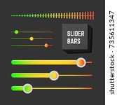 colorful slider bars set. ui...