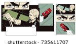 stock illustration. people in... | Shutterstock .eps vector #735611707