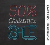 christmas sale sign | Shutterstock .eps vector #735612955