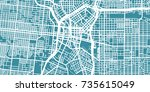 detailed vector map of san... | Shutterstock .eps vector #735615049