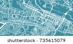 detailed vector map of augusta  ... | Shutterstock .eps vector #735615079