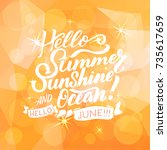 summer greeting card with... | Shutterstock .eps vector #735617659