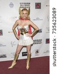 Small photo of Katie Lohmann attends Red Carpet Halloween Hotness 4: Heating Up For the Cure at American Legion Post 43, Los Angeles, California on October 10th 2017