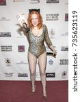Small photo of Maitland Ward attends Red Carpet Halloween Hotness 4: Heating Up For the Cure at American Legion Post 43, Los Angeles, California on October 10th 2017