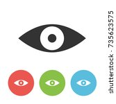eye vector single icon for web...