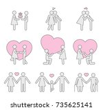 pictograms which represent... | Shutterstock .eps vector #735625141