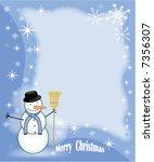 snowman  in winter  background... | Shutterstock .eps vector #7356307