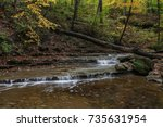 river in fall  cuyahoga valley | Shutterstock . vector #735631954