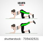 leg lifts. donkey kicks. sport...