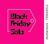 black friday sale template.... | Shutterstock .eps vector #735633511