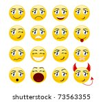 set of cool smiles. vector... | Shutterstock .eps vector #73563355