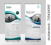 business roll up design... | Shutterstock .eps vector #735634345