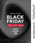 black friday sale poster or...   Shutterstock .eps vector #735635137