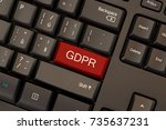 general data protection... | Shutterstock . vector #735637231