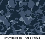 camouflage pattern background...   Shutterstock .eps vector #735643015