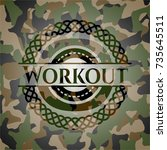 workout on camouflage pattern | Shutterstock .eps vector #735645511
