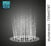 magic fantasy portal.... | Shutterstock .eps vector #735645787