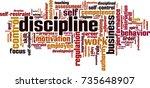 discipline word cloud concept.... | Shutterstock .eps vector #735648907