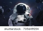 picture of astronaut... | Shutterstock . vector #735649054