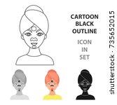 facial mask icon in cartoon... | Shutterstock .eps vector #735652015