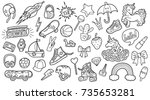 patches for boys and girls.... | Shutterstock .eps vector #735653281