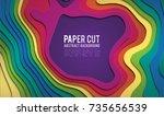 colorful paper cutout. paper... | Shutterstock .eps vector #735656539