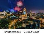 edinburgh  scozia   august 16 ... | Shutterstock . vector #735659335