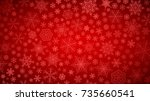 christmas background of big and ... | Shutterstock .eps vector #735660541