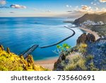 amazing view of beach las... | Shutterstock . vector #735660691