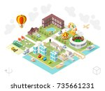 set of isometric high quality...   Shutterstock .eps vector #735661231