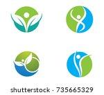healthy life logo template... | Shutterstock .eps vector #735665329