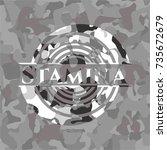 stamina on grey camo pattern | Shutterstock .eps vector #735672679