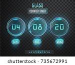 glass counter timer.... | Shutterstock .eps vector #735672991