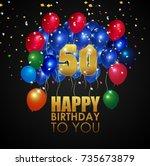 vector illustration of happy... | Shutterstock .eps vector #735673879