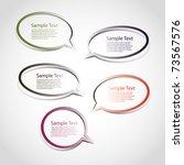 speech bubbles | Shutterstock .eps vector #73567576