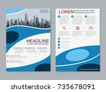 modern business two sided flyer ... | Shutterstock .eps vector #735678091
