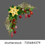 christmas elements for your... | Shutterstock .eps vector #735684379