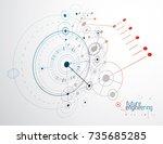 technical plan  abstract... | Shutterstock .eps vector #735685285