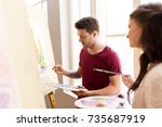 creativity  education and... | Shutterstock . vector #735687919