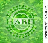 Habit Realistic Green Mosaic...