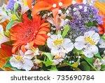 Bouquet With Orange Gerberas...