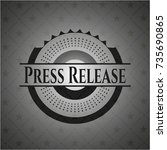 press release retro style black ... | Shutterstock .eps vector #735690865