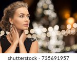 jewelry  holidays  luxury and... | Shutterstock . vector #735691957