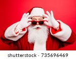 holly jolly x mas noel ... | Shutterstock . vector #735696469